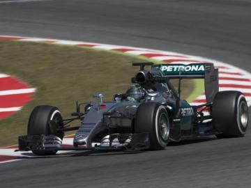 Nico Rosberg, durante la sesión de entrenamientos