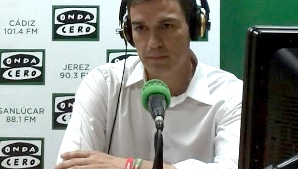 Pedro Sánchez en Onda Cero.