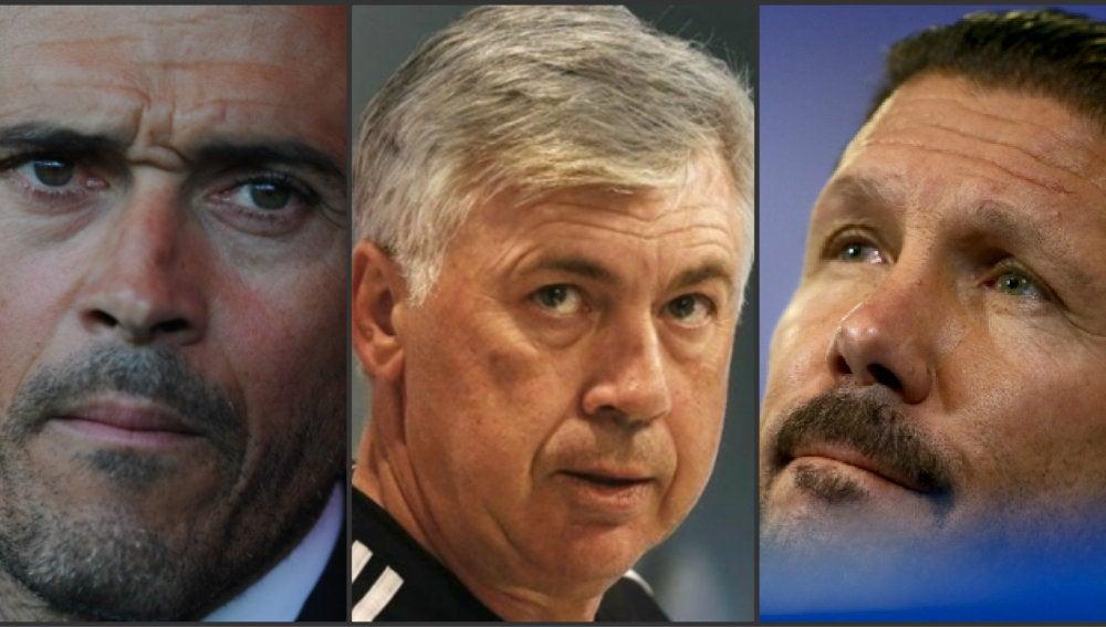 Luis Enrique, Carlo Ancelotti y Cholo Simeone