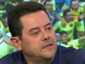Tomás Roncero, enfadado con Quim Domènech en 'El Chiringuito de Jugones'