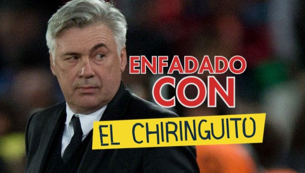 Ancelotti, enfadado con El Chiringuito