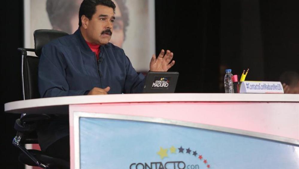 Nicolás Maduro, en su programa de televisión