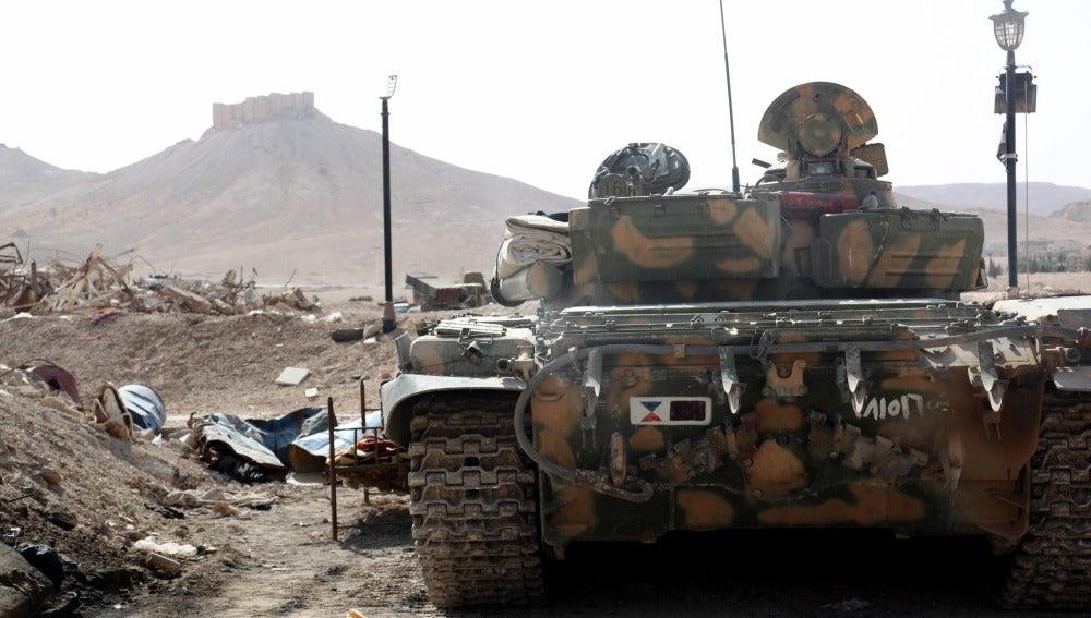 Los yihadistas del Estado Islámico irrumpen en el Museo de Palmira en Siria