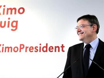 Ximo Puig, candidato a la presidencia  de la Generalitat Valenciana