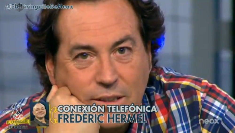 Cara a cara entre Pipi Estrada y Frédéric Hermel en 'El Chiringuito de Jugones'