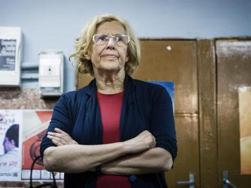 La candidata de Ahora Madrid a la Alcaldía de Madrid, Manuela Carmena