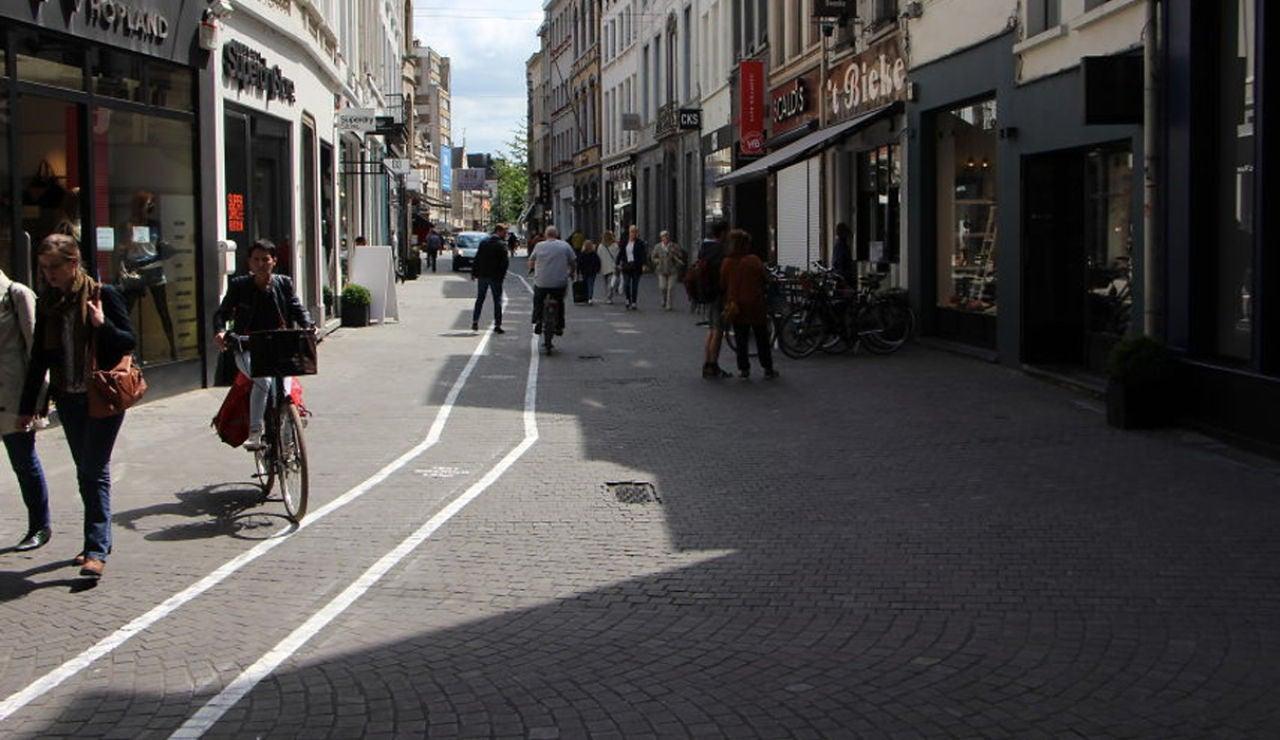 Una calle de Amberes