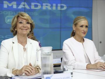 Esperanza Aguirre y Cristina Cifuentes