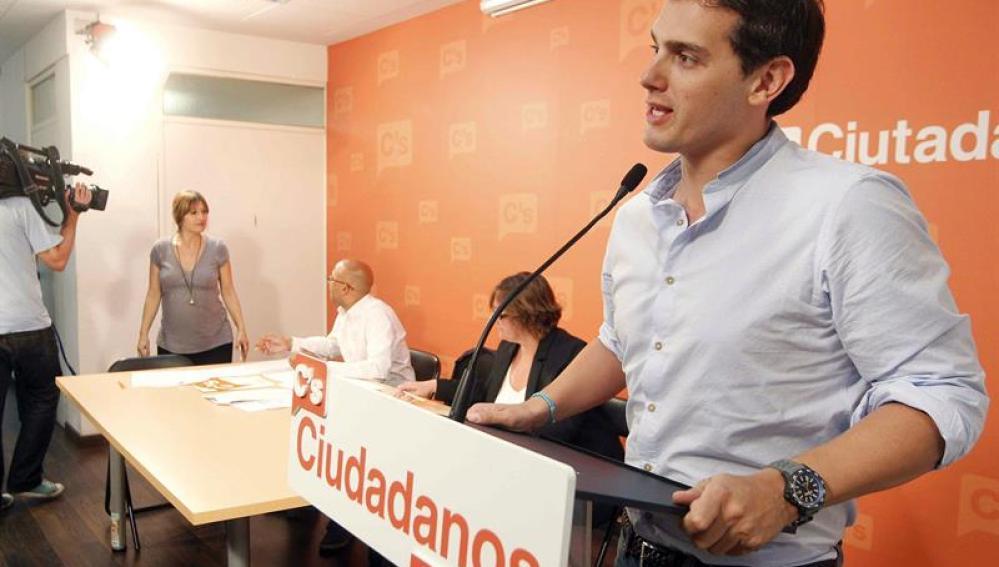 Albert Rivera, durante su intervencion en el consejo general de Ciudadanos