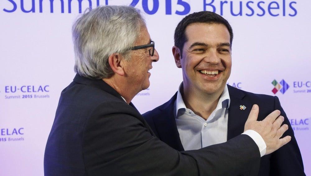 Tsipras y Juncker