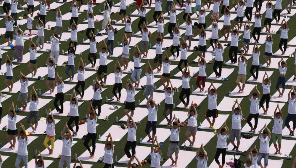 Día internacional del yoga en la India (21-06-2015)