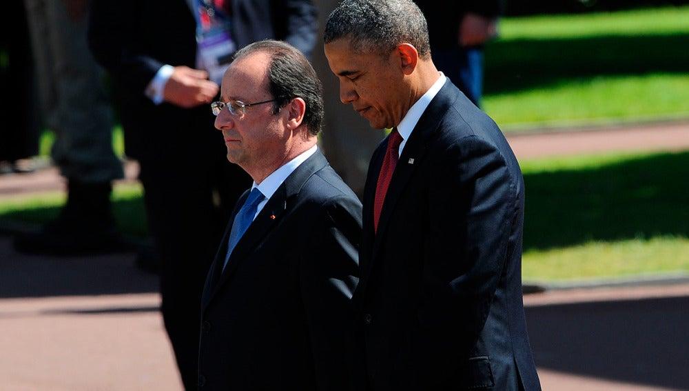 Obama y Hollande, en una visita oficial en Francia