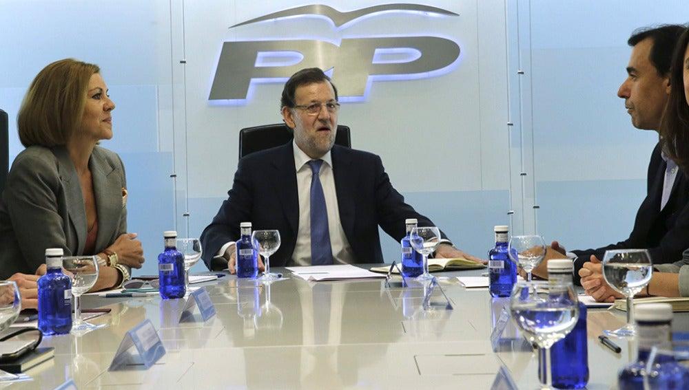 Mariano Rajoy  preside la primera reunión de la nueva cúpula del partido