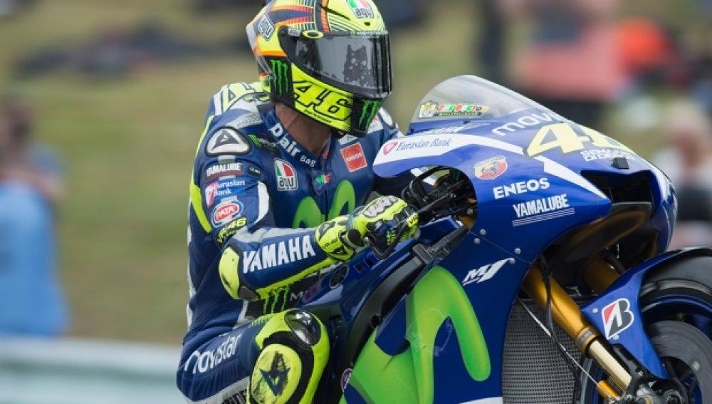 Rossi, con la Yamaha
