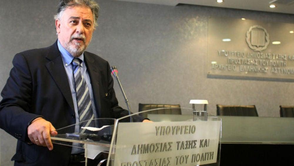 Yanis Panusis, ministro griego de Protección Ciudadana.