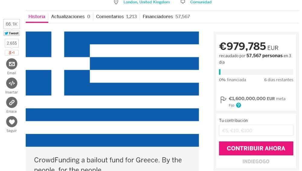 Campaña de financiación colectiva para hacer frente a la deuda de Grecia con el FMI
