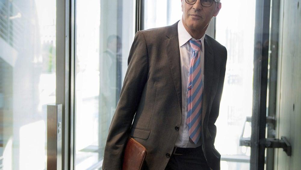 Guenter Heiss, a su llegadaa una reunión en el Parlamento alemán.