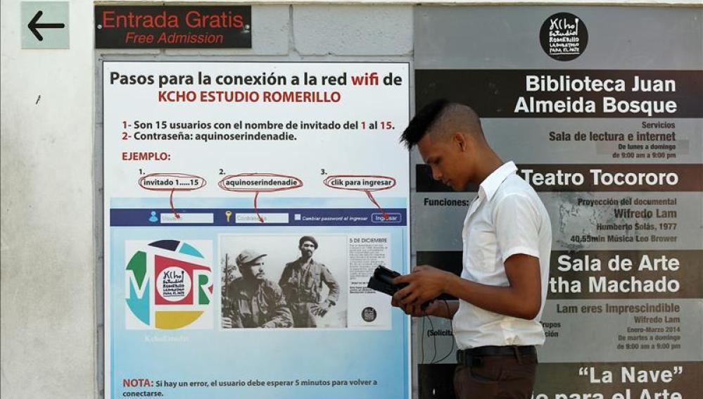 Cuba es uno d elos países con  menor conectividad del mundo.