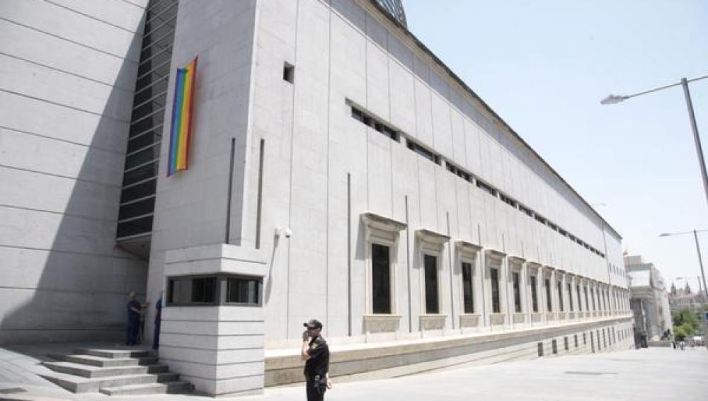 La bandera arcoíris en el Congreso
