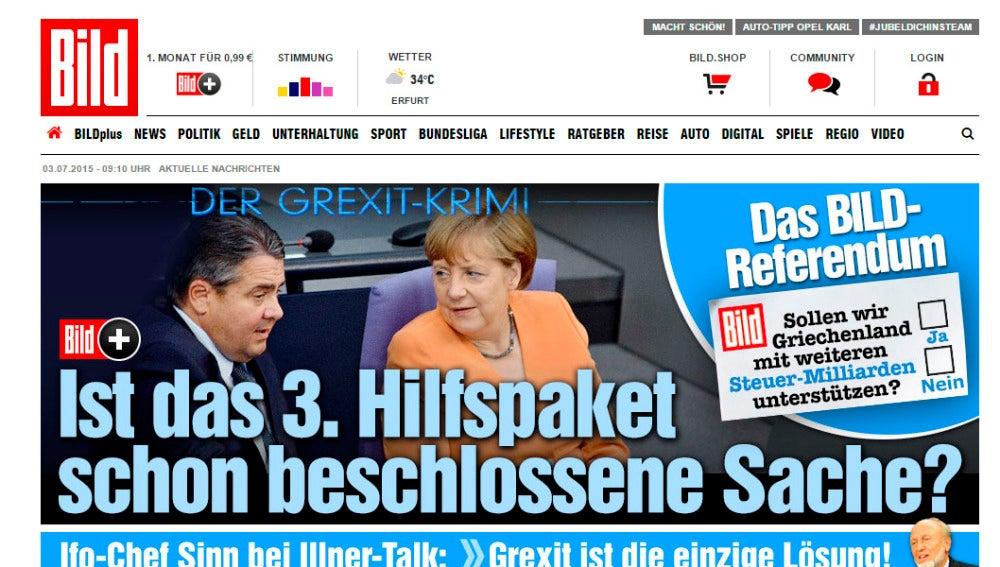 Consulta en el diario Bild