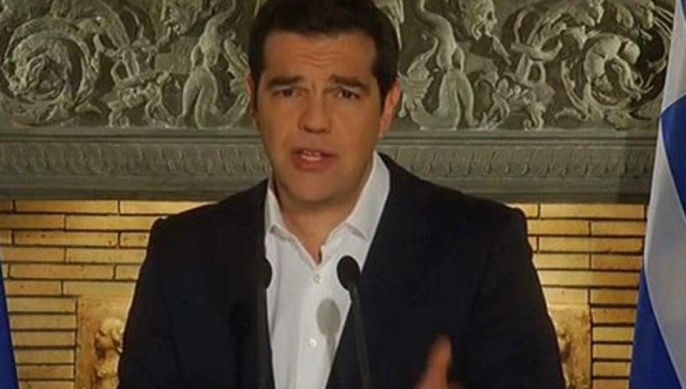 Tsipras, en su comparecencia