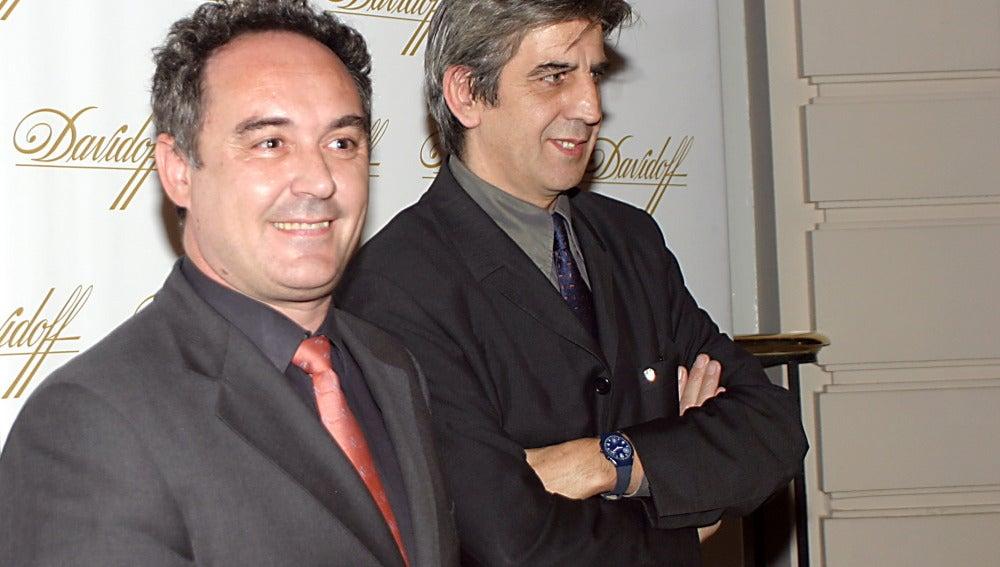 Juli Soler, junto a Ferran Adrià
