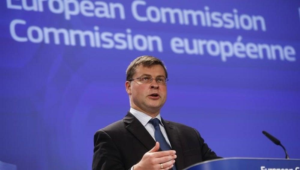 El vicepresidente de la CE para el euro y el Diálogo Social, Valdis Dombrovskis