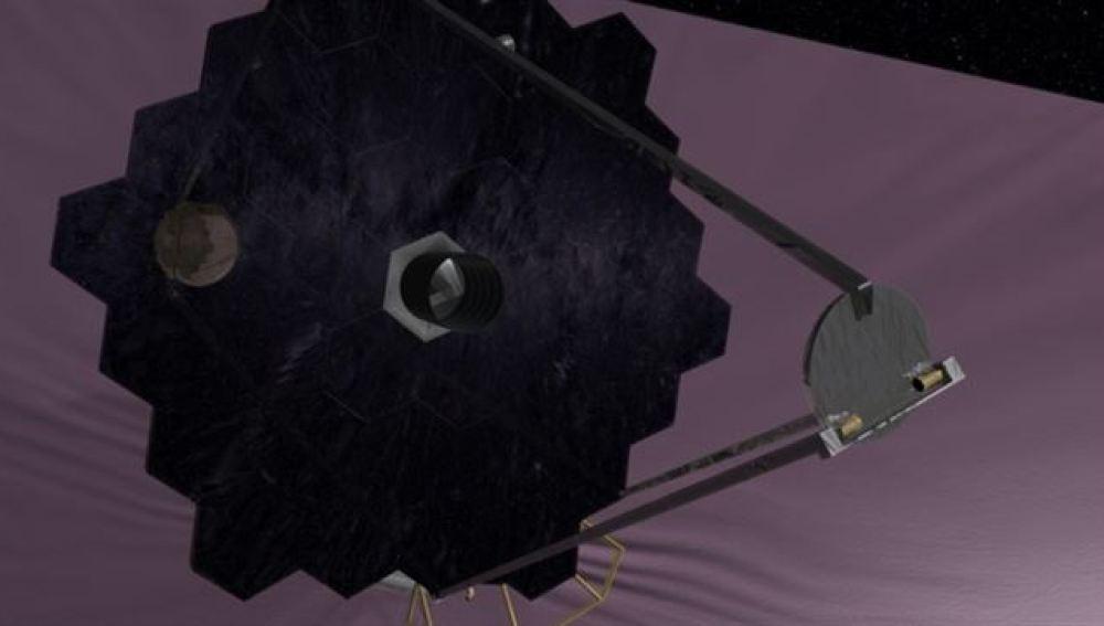 Imagen de la NASA del telescopio espacial gigante.