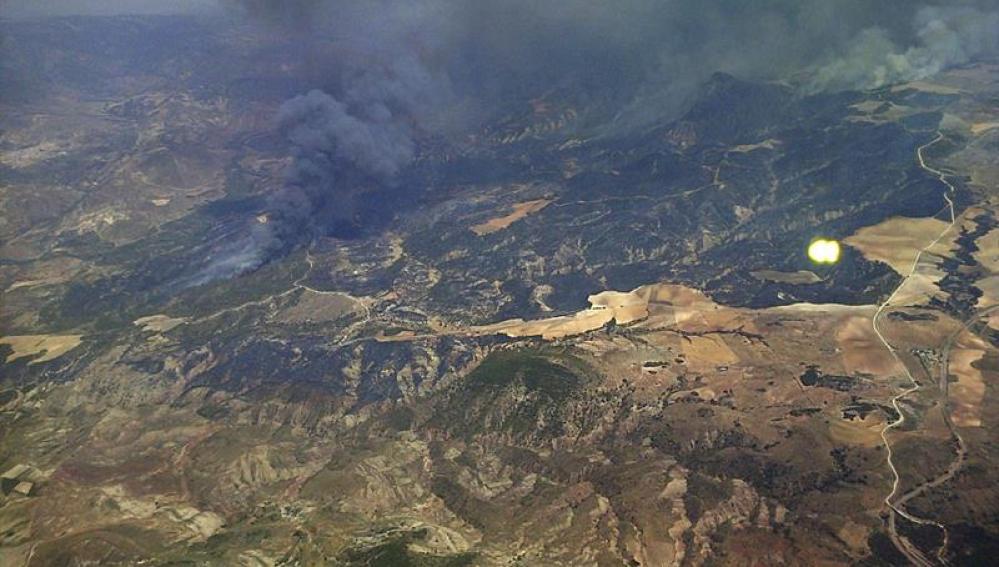 Incendio forestal en Lújar