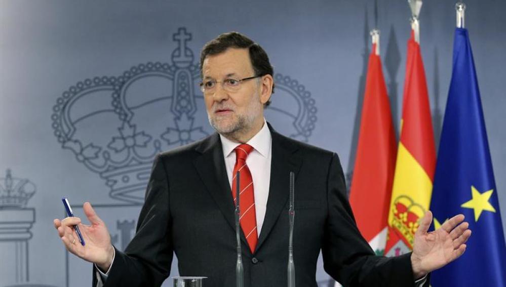 Mariano Rajoy comparece en rueda de prensa.