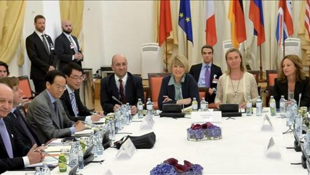 Reunión sobre las negociaciones nucleares con Irán, celebrada en el Hotel Palais Coburg en Austria