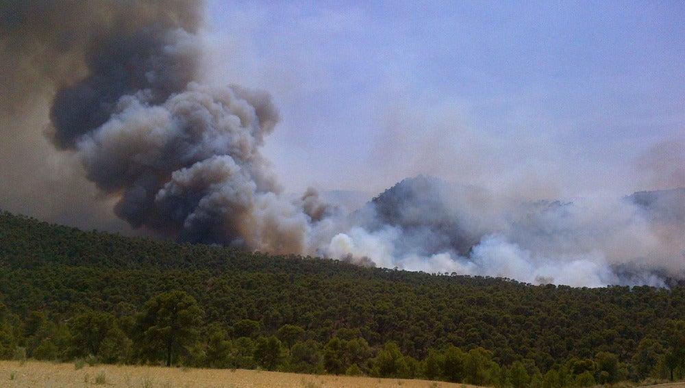Incendio en el término municipal de Quesada