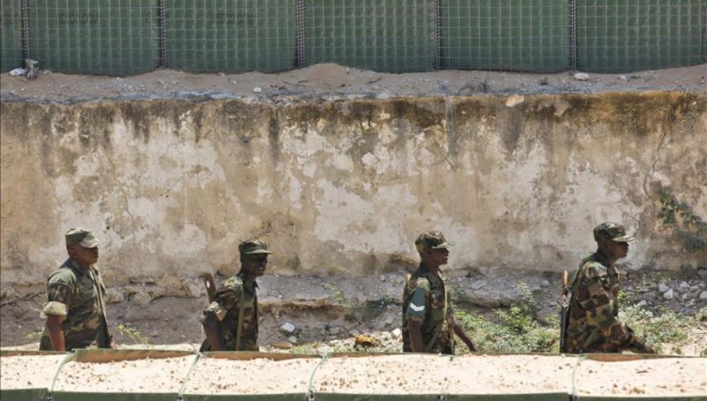 Soldados de la Misión de la Unión Africana en Somalia (AMISOM)