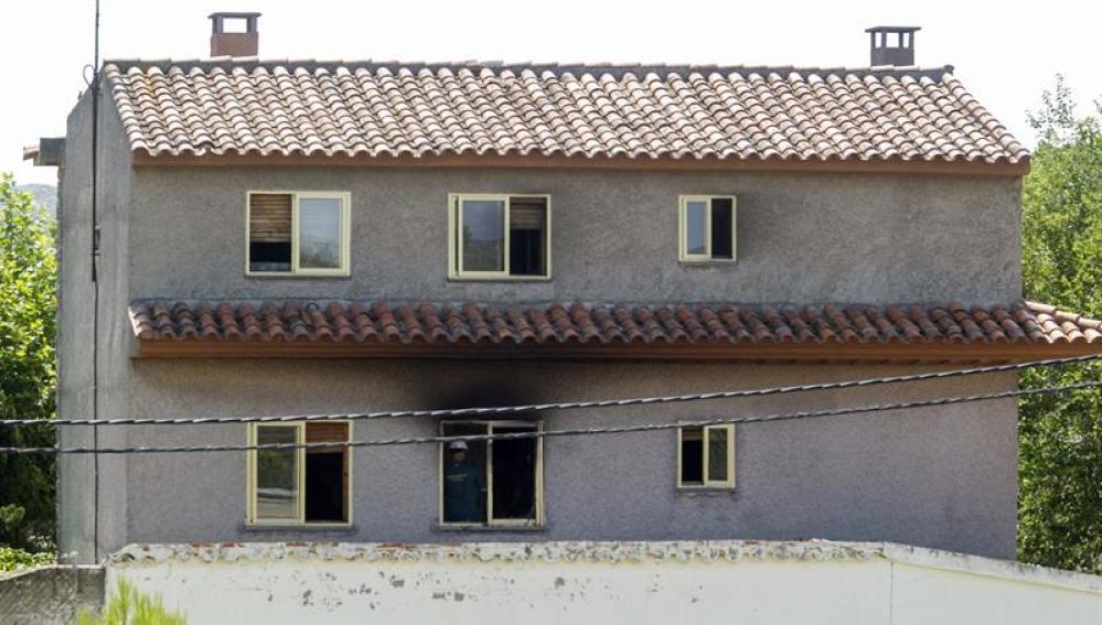 Vista de la residencia privada de Santa Fe