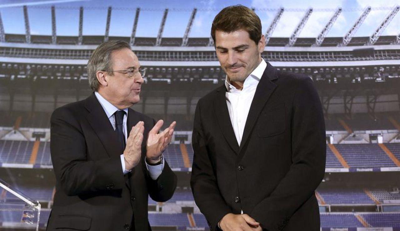 Iker Casillas con Florentino Pérez