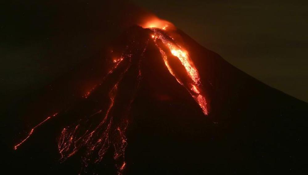 El Volcán de Colima, en el oeste de México