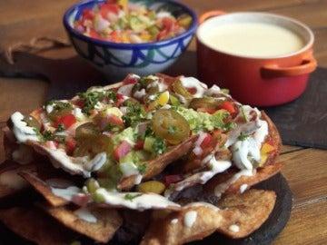 Estos nachos son de otro planeta. Palabrita.