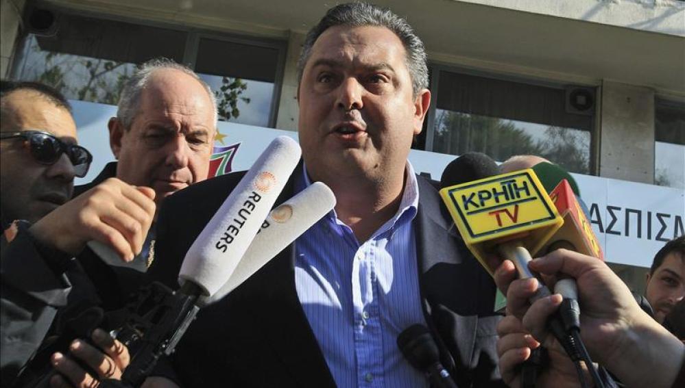 Panos Kamenos, líder de los Griegos Independientes