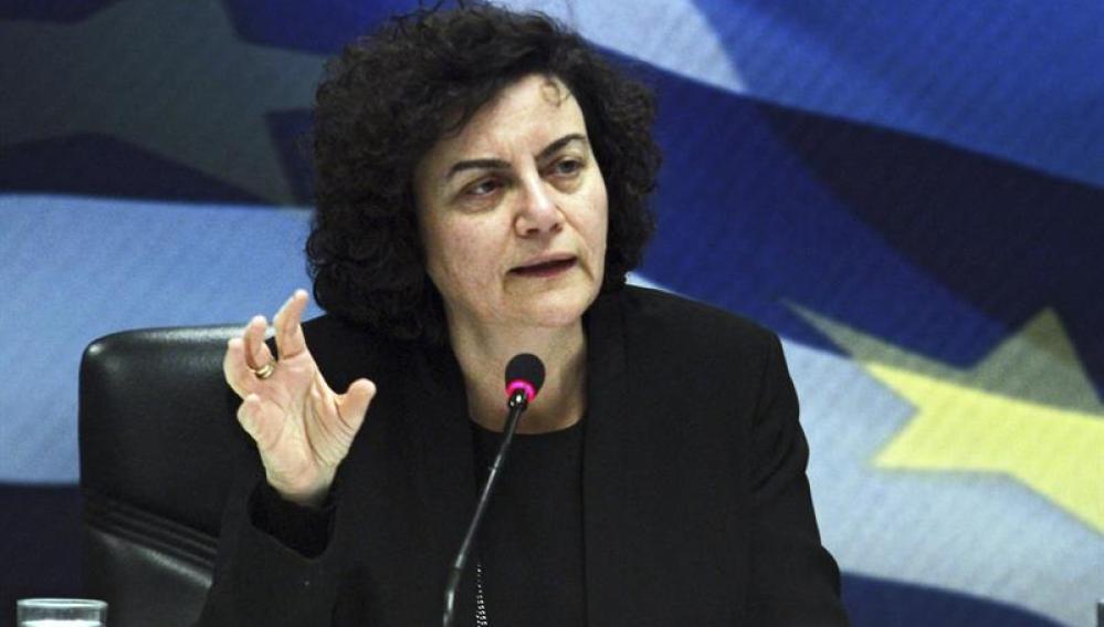 Nadia Valavani, exviceministra de Finanzas griega