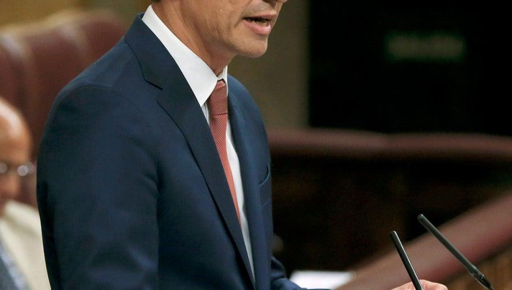Pedro Sánchéz, en el Congreso de los Diputados