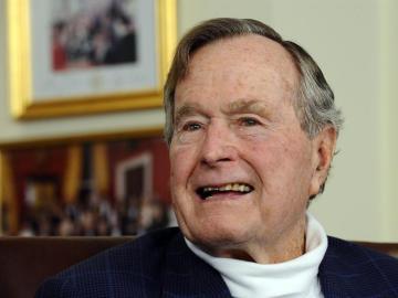 El expresidente de EEUU, George H. W. Bush