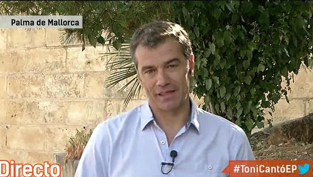 Toni Cantó, en una entrevista en Espejo Público