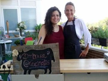 Bárbara y su amiga Alejandra, nutricionista