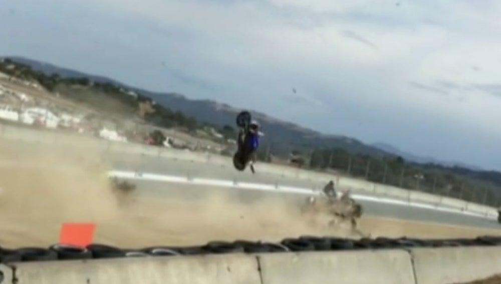 Accidente en Laguna Seca