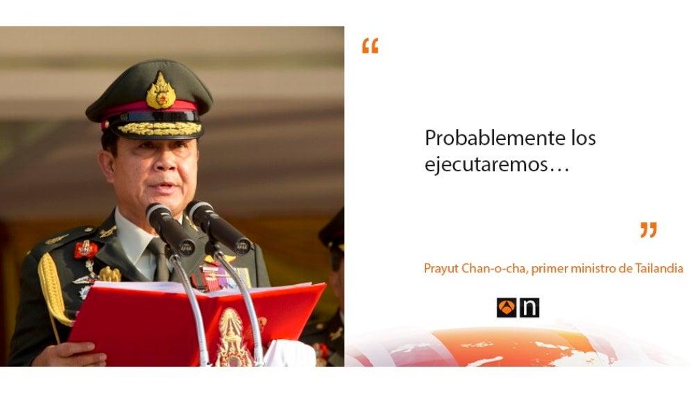 Declaraciones primer ministro de Tailandia