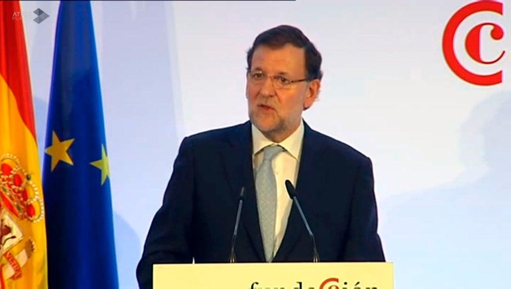 Mariano Rajoy, durante intervención en Sevilla