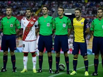 Foto antes de comenzar un partido de Liga