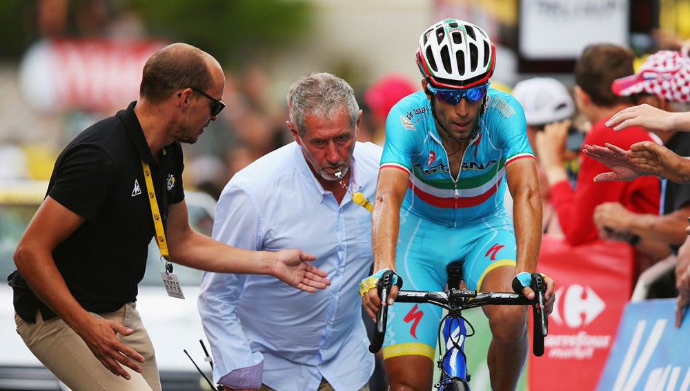 Nibali, durante la etapa del Tour