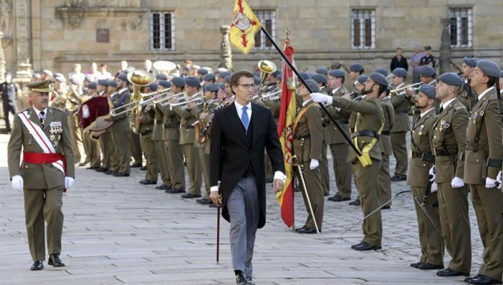 El presidente de la Xunta, Alberto Núñez Feijóo, en la celebración del Día de Galicia
