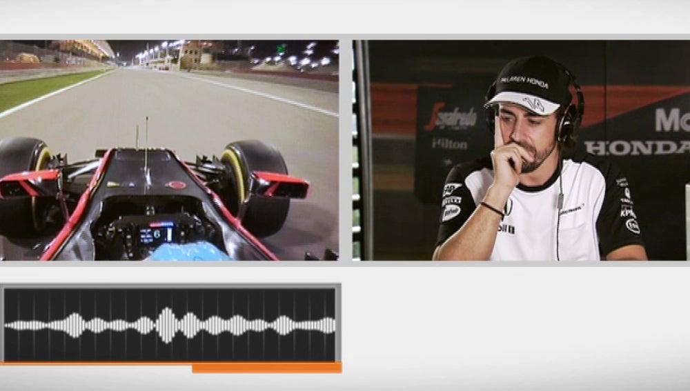 Prueba de sonido para Fernando Alonso
